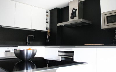 Cocina lacado brillante en blanco Figueres (Girona)