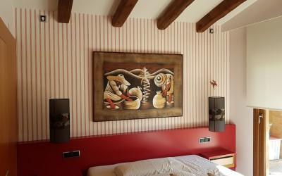 Decoración interior en casa rústica en campo de golf de Peralada(Girona)